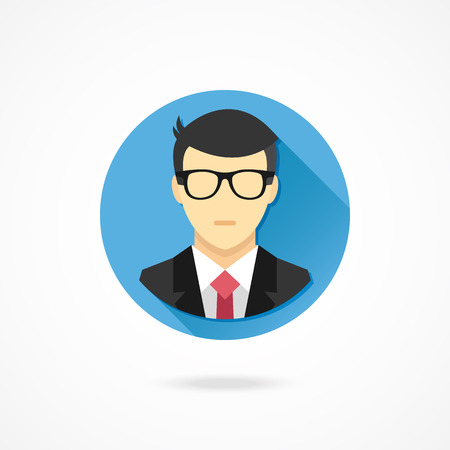 account executives: Vector Man in Business Suit Icon Illustration