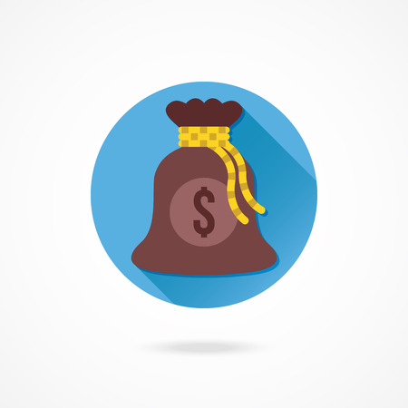 knotted rope: Vector Money Bag Icon
