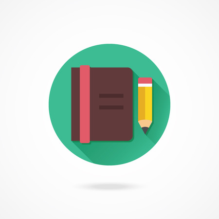 Vector Notebook and Pencil Icon Vector