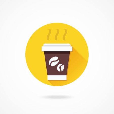 Vector Paper Coffee Cup Icon Vector