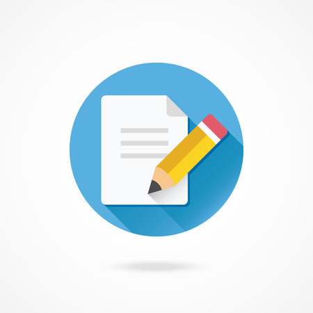 filling folder: Vector Pencil and Document Icon
