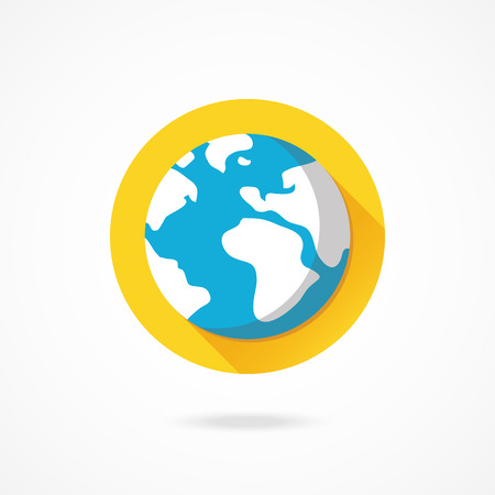 Vector Planet Earth Icon Vector