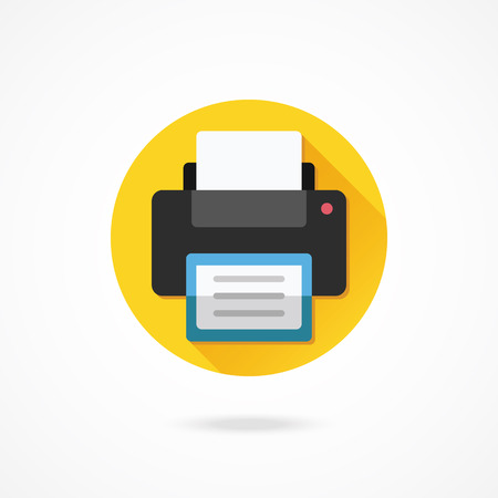 multifunction printer: Vector Printer Icon Illustration