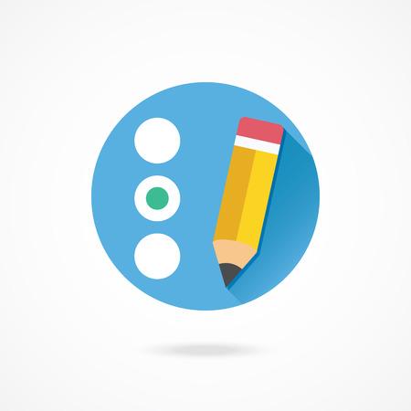Vector Quiz or Radio Buttons Icon Vector