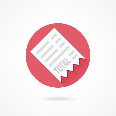 cash receipt: Vector Receipt Icon