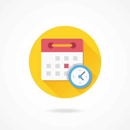 schedule: Vector Schedule Icon Illustration