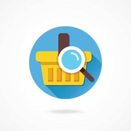 Vector Search Shopping Basket Icon Vector
