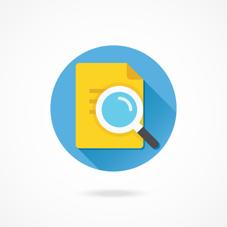 Vector Search the Document Icon Vector