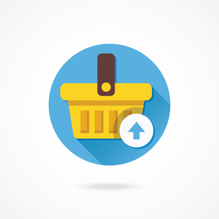 Vector Shopping Basket Add to Cart Icon Vector