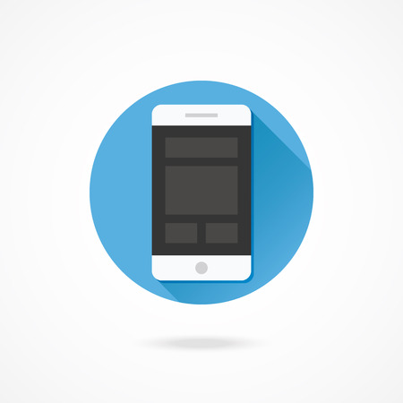 web design icon: Vector Smartphone Responsive Web Design Icon