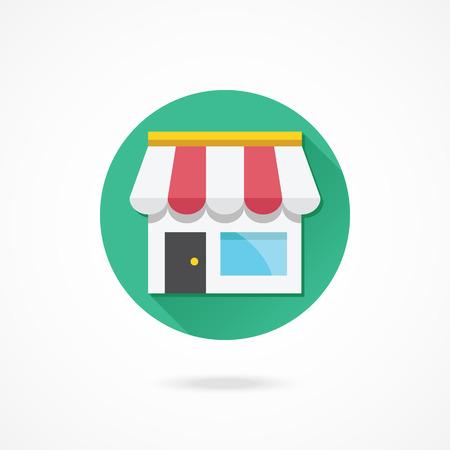 round window: Vector Shop Icon
