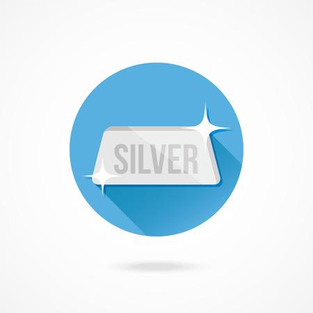 Vector Silver Bar Icon Vector