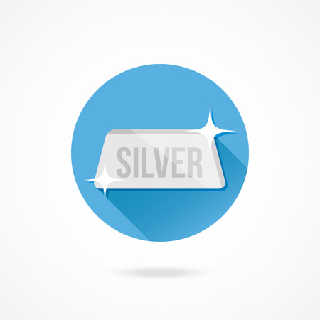 silver bar: Vector Silver Bar Icon