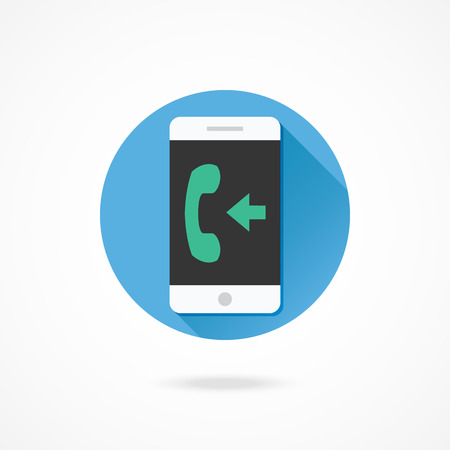 Vector Smartphone Incoming Call Icon Vector