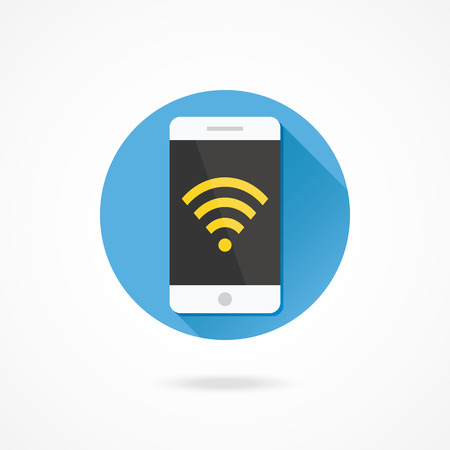 Vector Smartphone Wifi Icon Vector