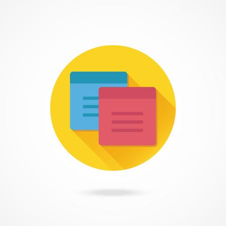 sticky notes: Vector Sticky Notes Icoon