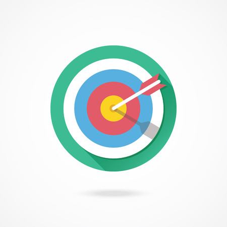 dart on target: Vector Target Marketing Icon