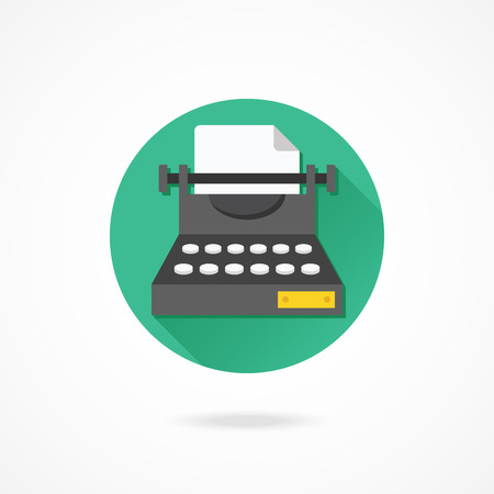 correspond: Vector Typewriter Icon Illustration