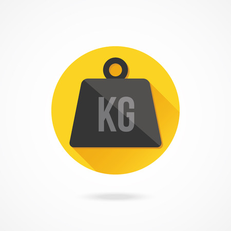 heaviness: Vector Weight Kilogram Icon Illustration