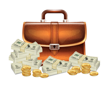 suit case: Business Case with Money