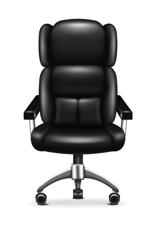 leather chair: Leather Office Chair Illustration