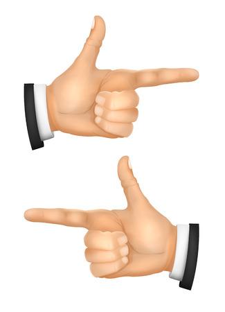 오른쪽과 왼쪽의 손을 가리