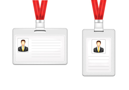 Identification Card Man Vector