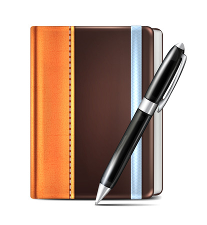 Moleskin and Pen Vector