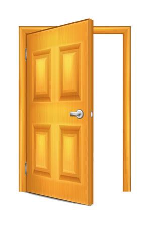 front gate: Open Door