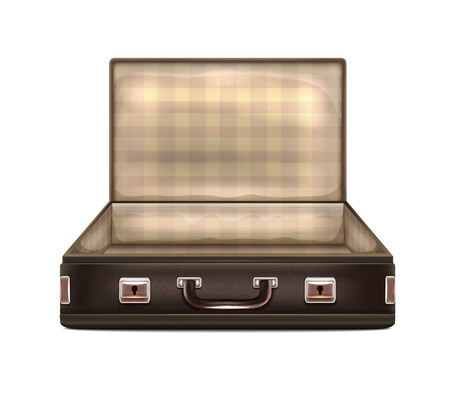 leather briefcase: Open Suitcase