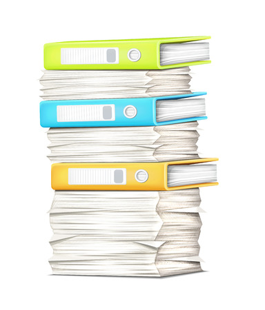 pile of papers: Pile Papers and Binders