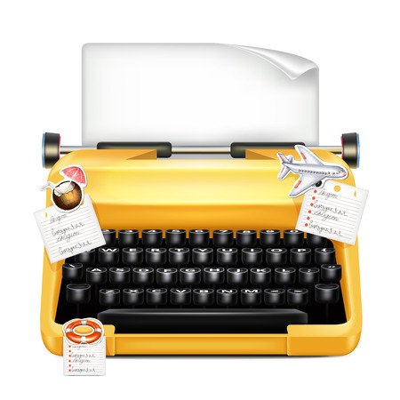 authorship: Typewriter With Stickers