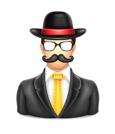 User Man in Hat Icon Vector