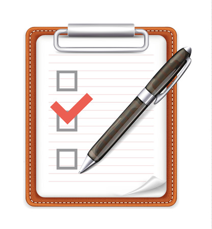 Vector Form with Pen and Checklist Icon Vector