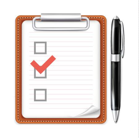 Vector Form with Pen and Checklist Icon Vector