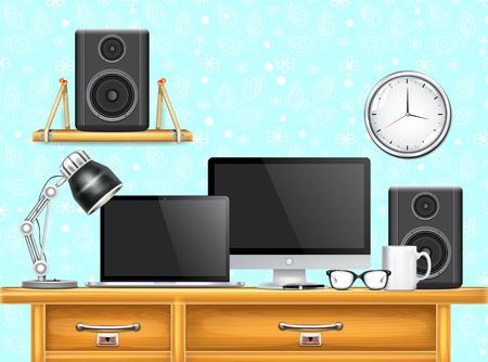 speakers desk: Workplace