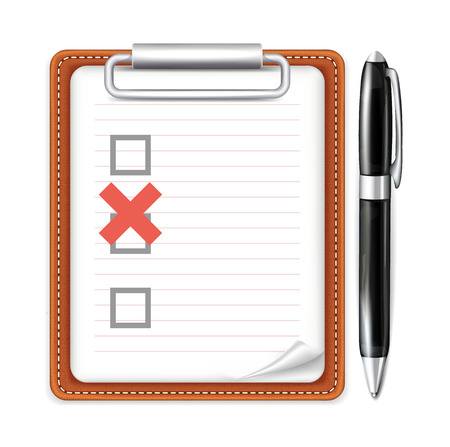 mark pen: Vector Form Pen and X Mark Icon Illustration