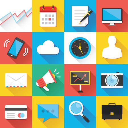 Modern Flat Icons for Web and Mobile Applications Set 1 Vector