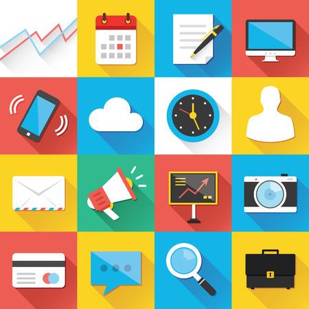 Web およびモバイル アプリケーションの近代的なフラット アイコン セット 1