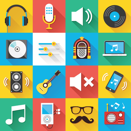 jukebox: Modern Flat Icons for Web and Mobile Applications Set 4