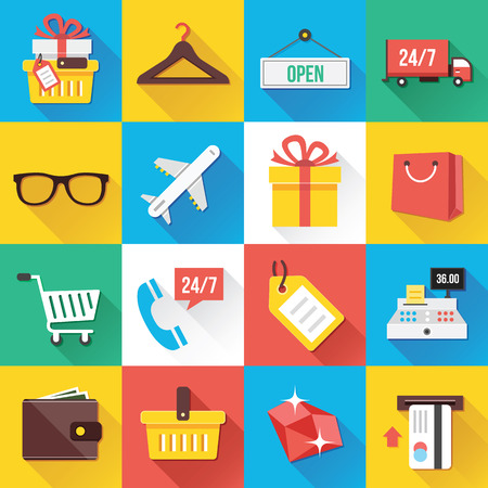 ecommerce: Modern Flat Icons for Web and Mobile Applications Set 10