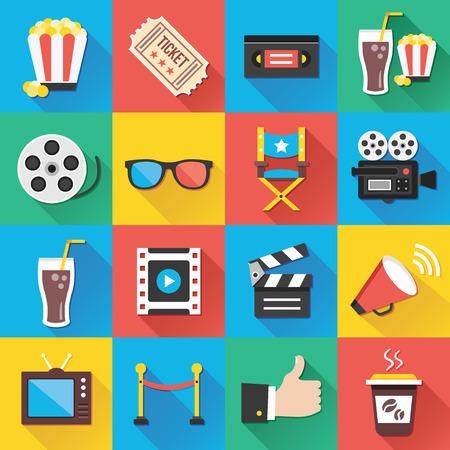 Icone moderne piatte per applicazioni Web e mobili Set 5 Archivio Fotografico - 29121006