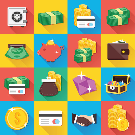 cash machine: Modern Flat Icons for Web and Mobile Applications Set 9