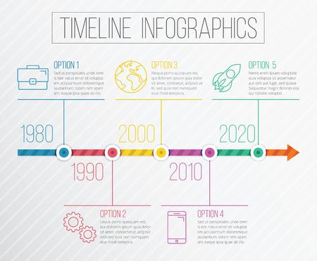 Vector Timeline Infographics Illustration