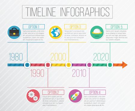 Vector Flat Timeline Infographics Vector