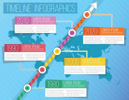 progress steps: Modern Vector Timeline Infographics