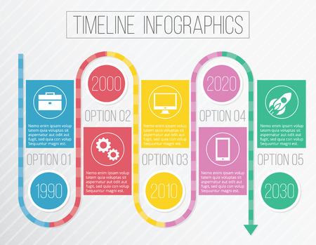 Vector Creative Timeline Infographics Vector