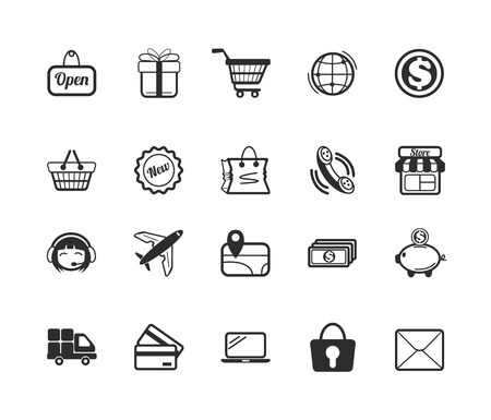credit card icon: Vector E Commerce Icons Set