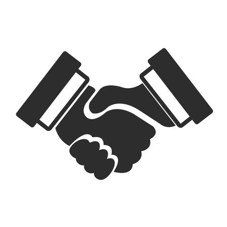 Vector Black Icon Handshake Vector