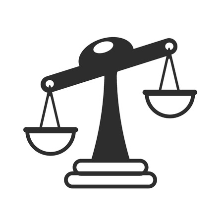 righteousness: Vector Scales of Justice Icon Illustration